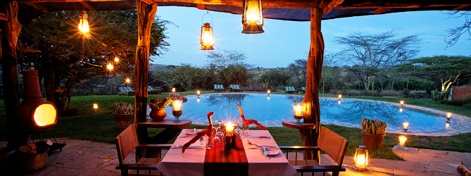 lewa safari camp dining