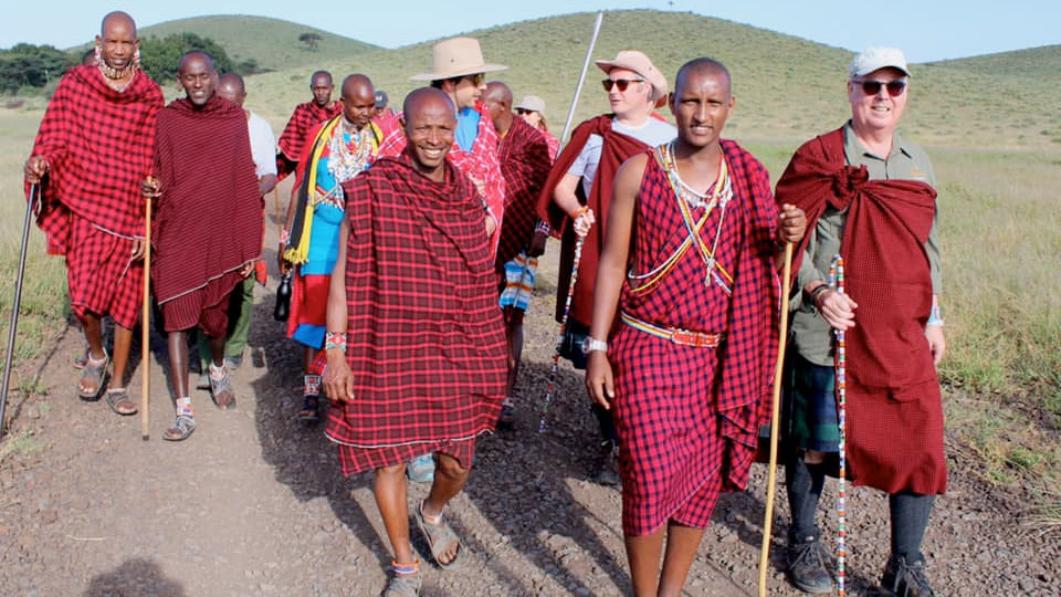 The Scottish Maasai Power walk in Amboseli